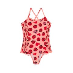 Lovebugs Kids Shirred Swimsuit