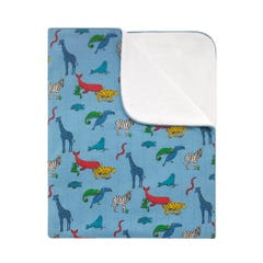 Animals Quilted Embroidered Blanket