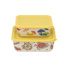Sunny Parasols Set of 2 Rectangular Lunch Boxes