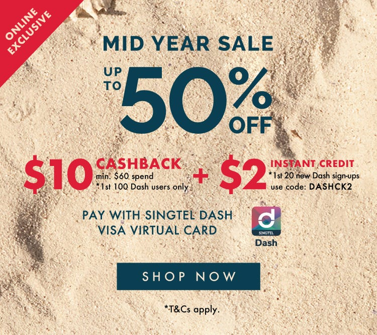 MID YEAR SALE UP TO 50% OFF